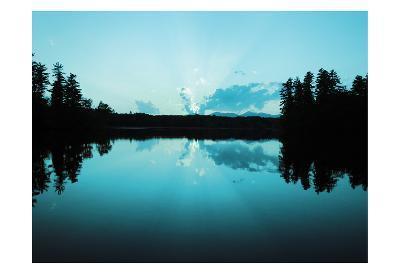 Sunset Lake Teal-Suzanne Foschino-Art Print