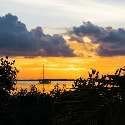 Sunset Landscape with a Yacht - Miami - Florida-Philippe Hugonnard-Photographic Print