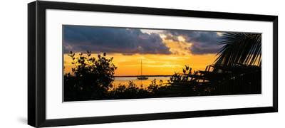 Sunset Landscape with a Yacht - Miami - Florida-Philippe Hugonnard-Framed Photographic Print