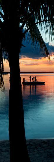Sunset Landscape with Floating Platform - Florida-Philippe Hugonnard-Photographic Print