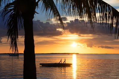Sunset Landscape with Floating Platform - Miami - Florida-Philippe Hugonnard-Photographic Print