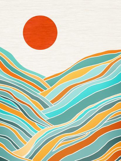 Sunset Landscape-Modern Tropical-Art Print