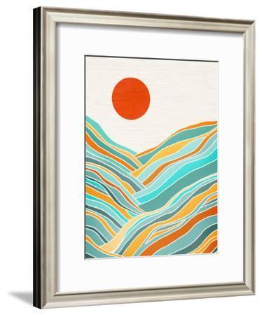 Sunset Landscape-Modern Tropical-Framed Art Print