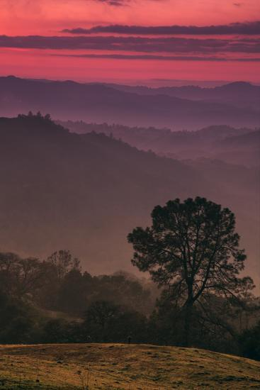 Sunset Layers, Mount Diablo, California-Vincent James-Photographic Print