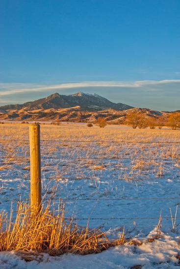 Sunset Light Bathes a Pasture in Montana's Gallatin Valley Near Bozeman-Gordon Wiltsie-Photographic Print