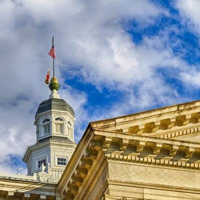 Sunset Light on the State Capitol Building, Annapolis, Maryland, USA-Christopher Reed-Photographic Print