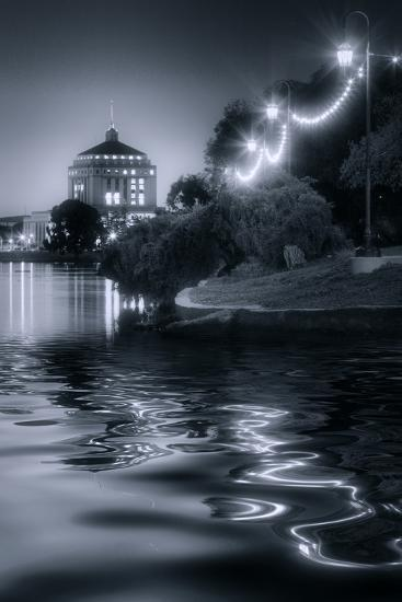 Sunset Lights at Lake Merritt-Vincent James-Photographic Print