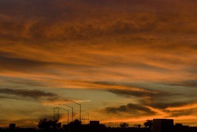 Sunset, Los Angeles to Las Vegas Freeway-Natalie Tepper-Photo