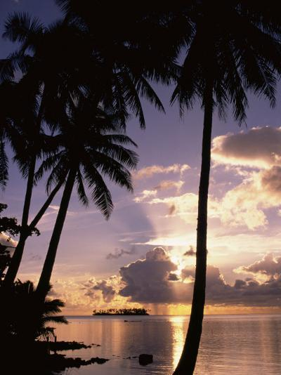 Sunset, Moorea, French Polynesia-Douglas Peebles-Photographic Print