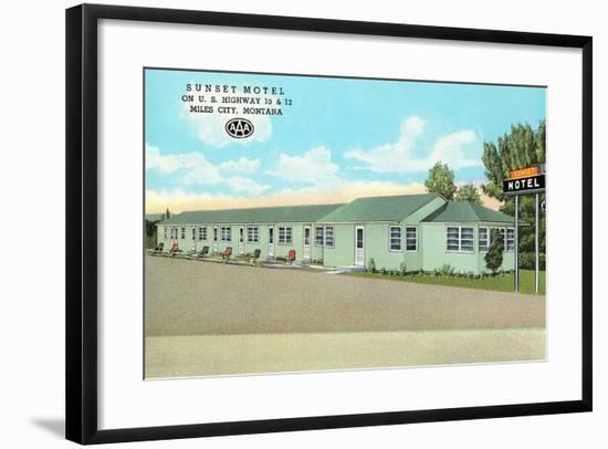 Sunset Motel, Miles City, Montana--Framed Art Print