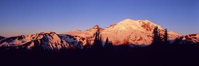 Sunset Mount Rainier Seattle Wa--Photographic Print