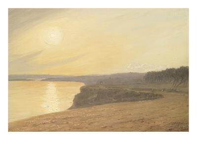 Sunset, Near Bournemouth, 1899 (Oil on Card)-James Hayllar-Giclee Print