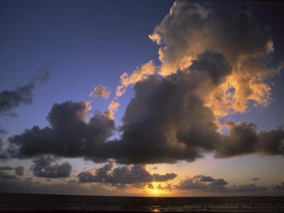 Sunset Near Silk Cay, Belize-Ed George-Photographic Print