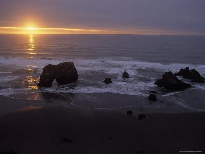 Sunset near Westport, California-Phil Schermeister-Photographic Print