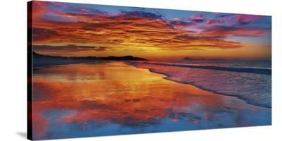 Sunset, North Island, New Zealand-Frank Krahmer-Stretched Canvas Print