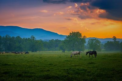 Sunset of Great Smoky Mountain-Rui Xu-Photographic Print