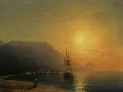 Sunset off Ayu Dag in the Crimea, 1861-Ivan Konstantinovich Aivazovsky-Giclee Print