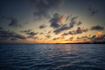 Sunset Off the Coast of Cat Island in the Bahamas-Andy Mann-Photographic Print