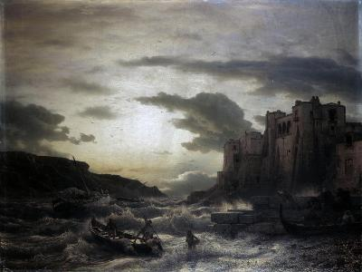 Sunset on a Headland in Porto Venere in the Gulf in Spezia-Andreas Achenbach-Art Print