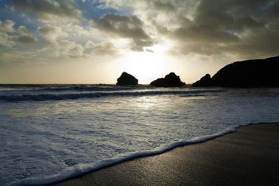 Sunset on Ballydowane Beach, Bunmahon, County Waterford, Ireland--Photographic Print