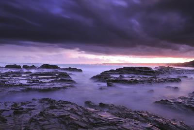 Sunset on Beach Near Melbourne, Australia-Keith Ladzinski-Photographic Print