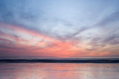 Sunset on Berrow Beach-Don Hooper-Photographic Print