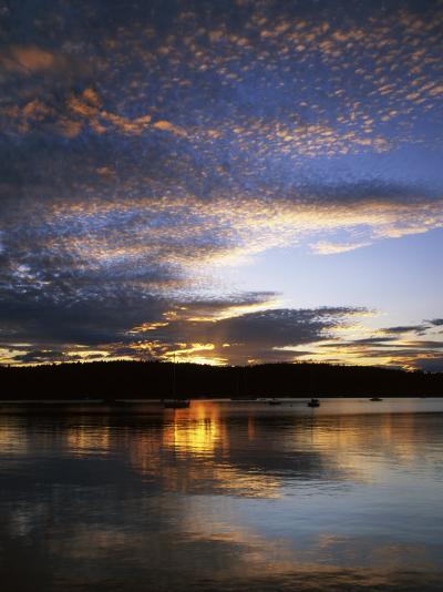 Sunset on Blind Bay, Shaw Island, Washington, USA-Charles Gurche-Photographic Print