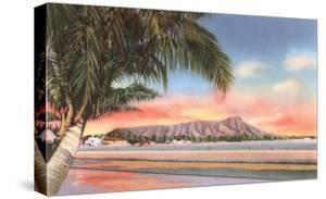Sunset on Diamond Head, Honolulu, Hawaii