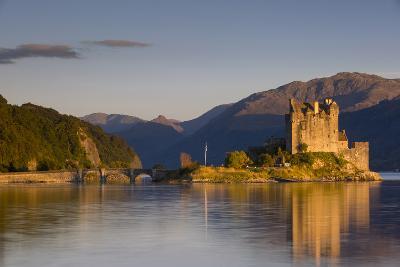 Sunset on Eilean Donan Castle, Dornie, Highlands, Scotland-Brian Jannsen-Photographic Print