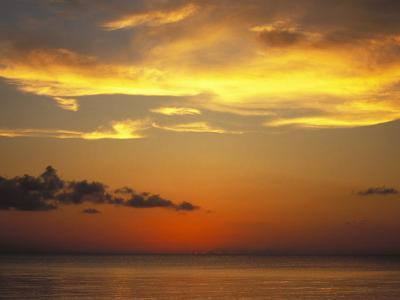 Sunset on Horizon of Caribbean Sky with Clouds-James Forte-Photographic Print