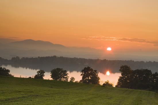 Sunset on Lake Staffelsee-Frank Lukasseck-Photographic Print