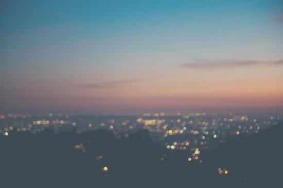 Sunset on Mulholland Drive-Laura Evans-Photographic Print
