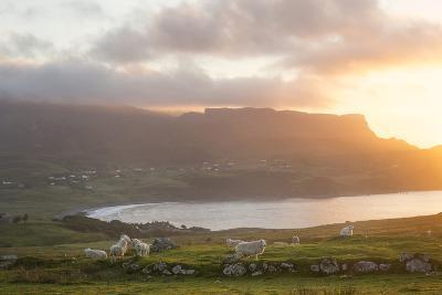 Sunset On Skye Island Grasslands, Scotland-Philippe Manguin-Photographic Print