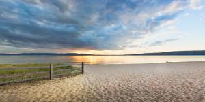 Sunset on South Bay, Lake Superior, Munising, Upper Peninsula, Alger County, Michigan, USA