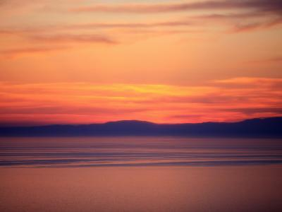 Sunset on the Aegean Sea, Mount Athos, Greece, Europe-Godong-Photographic Print