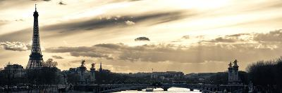 Sunset on the Alexander III Bridge - Eiffel Tower - Paris-Philippe Hugonnard-Photographic Print