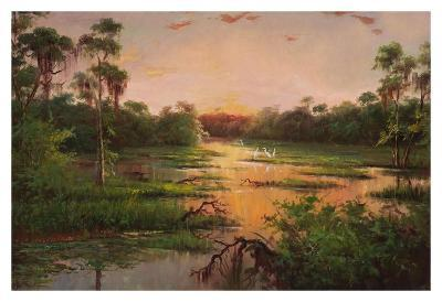 Sunset on the Bayou-Hannah Paulsen-Art Print