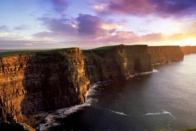 Sunset on the Cliffs of Moher, County Clare, Ireland-Chris Hill-Photographic Print