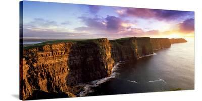 Sunset on the Cliffs of Moher, County Clare, Ireland-Chris Hill-Stretched Canvas Print