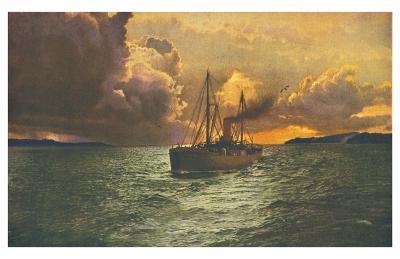 Sunset on the Columbia No. 54--Art Print