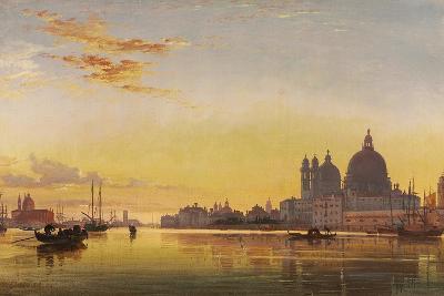 Sunset on the Lagoon of Venice, Church of Isola Di San Giorgio in Alga in the Distance-Edward William Cooke-Giclee Print