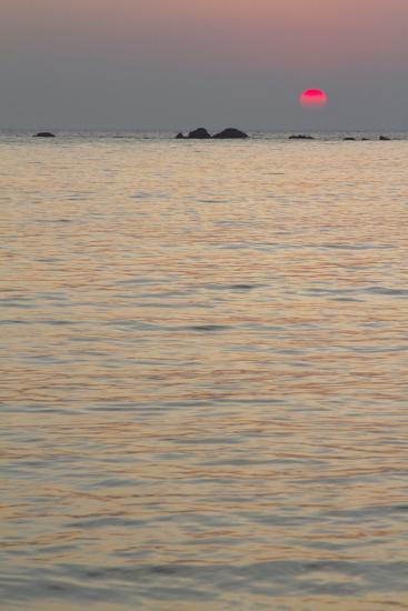 Sunset on the Ocean, Goa, India-James Gritz-Photographic Print