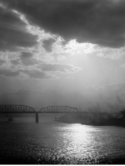 Sunset on the Ohio, Cincinnati, Ohio--Photo