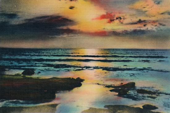 'Sunset on the Pacific. La Jolla, California', c1941-Unknown-Giclee Print