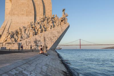 Sunset on the Padrao Dos Descobrimentos (Monument to the Discoveries) by the Tagus River, Belem-Roberto Moiola-Photographic Print