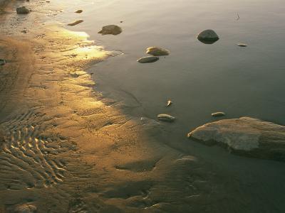 Sunset on the Rocky Shore of the Mackenzie River-Raymond Gehman-Photographic Print