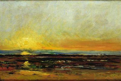 Sunset on the Sea Coast-Charles Francois Daubigny-Giclee Print