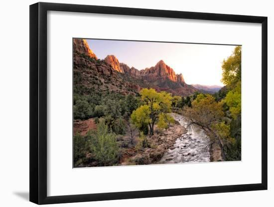 Sunset on the Watchman I-Danny Head-Framed Photographic Print