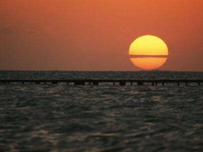 Sunset on the Water at Key West-Bill Curtsinger-Photographic Print