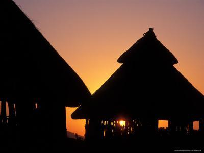 Sunset on Traditional Konso Huts, Omo River Region, Ethiopia-Janis Miglavs-Photographic Print